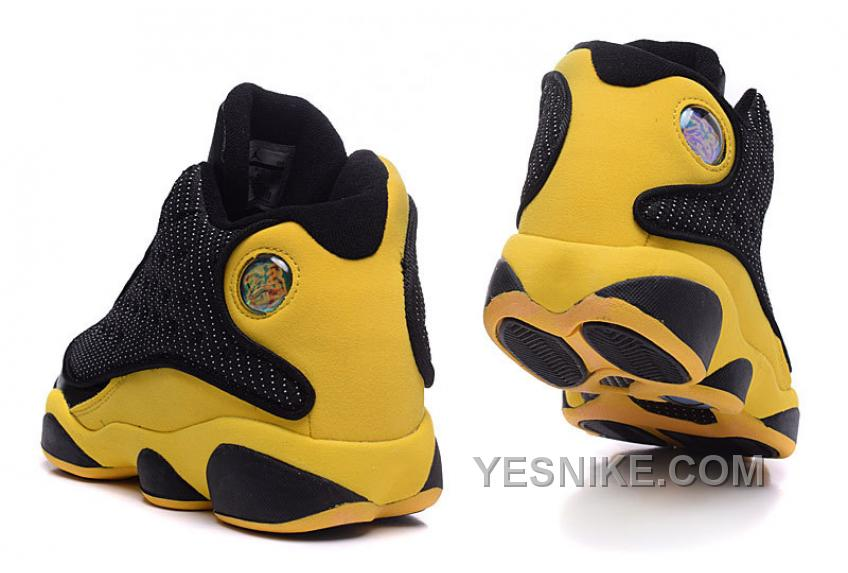 Authentic Air Jordans 13 Carmelo Anthony Golden Nuggets PE Black Yellow
