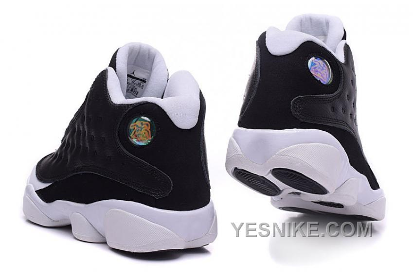 "Big Discount! 66% OFF! Air Jordan 13 Custom ""Oreo"" Black White On Sale"