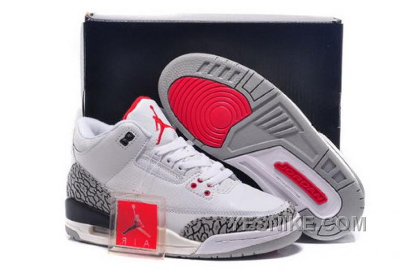 super popular 01142 6c75f Big Discount! 66% OFF! Low Cost Nike Air Jordan Iii 3 Retro Womens Shoes  New White Red Black Special KbHEQ