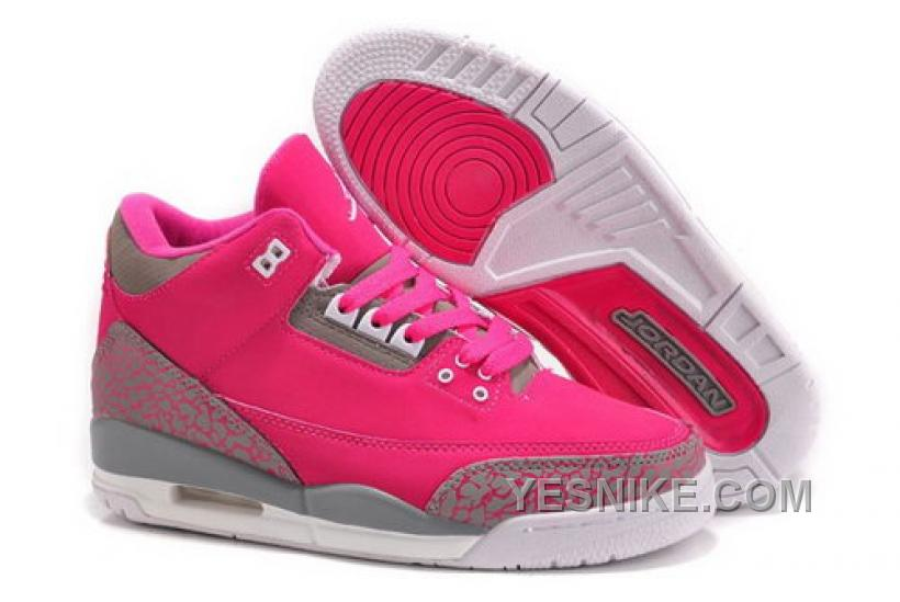 JHFeX Nike Special Price White Discount66OFFLow Air Retro 3 Womens Big Jordan Iii Shoes Gray Pink 5ARcjq34L