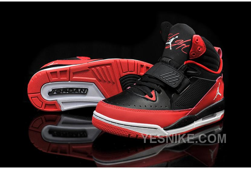 new products 85863 97522 Air Jordan Flight 97 Black White Gym Red Cheap