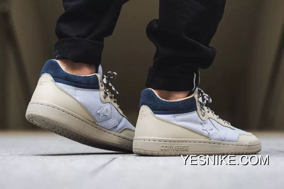 Edison Chen Run Brand CLOT Launched Collaboration CLOT X Converse Fastbreak Mid Grey Blue Star Arrow Sign Two Colorways M 160283 C Size For Sale