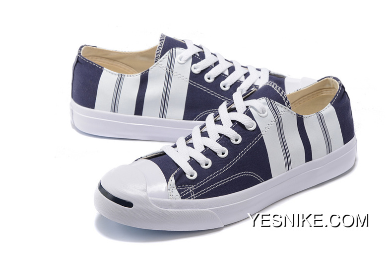 a3407202a90f Converse JACK PURCELL Purchell Stripe Canvas Shoes Blue 151657 C New Year  Deals