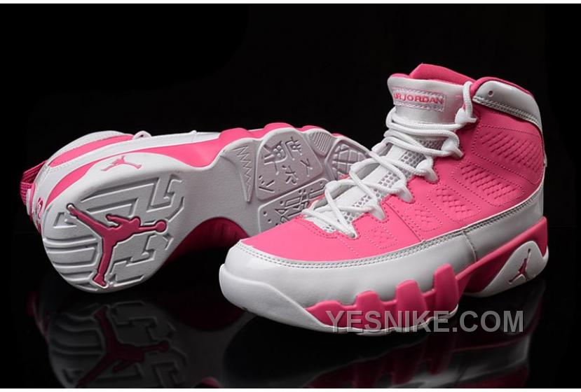 buy online 3ceb0 408e9 Big Discount! 66% OFF! Girls Air Jordan 9 Pink White Shoes For Sale