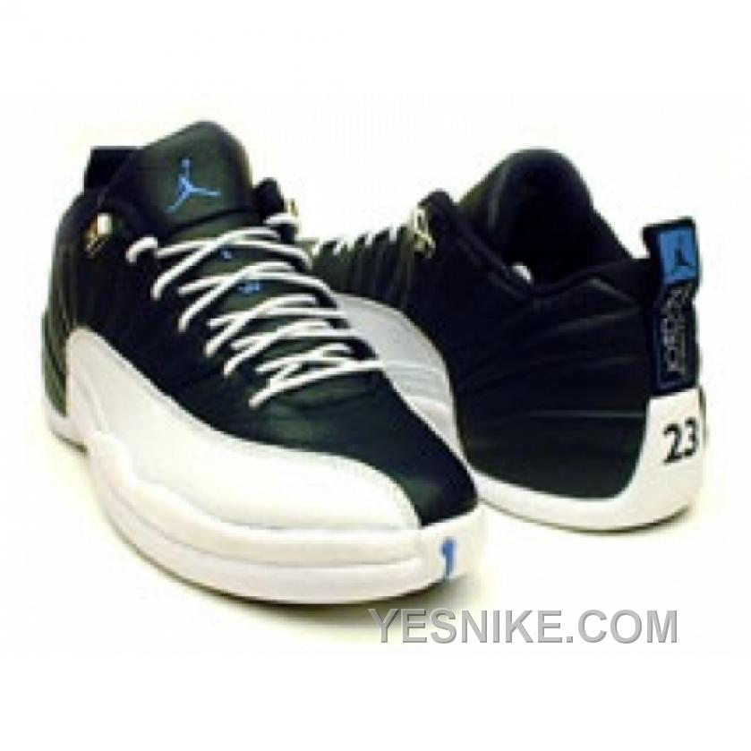 low priced 05f37 5a2ea Big Discount! 66% OFF! Air Jordan Retro 12 XII Low Obsidian Blue White  University Blue 308317-441