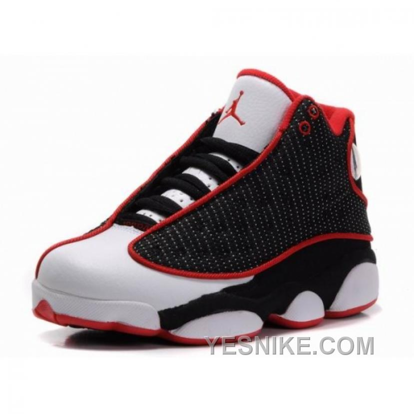 the latest 1968f f9fe2 Big Discount! 66% OFF! Air Jordan Retro 13s Shoes Black Red White