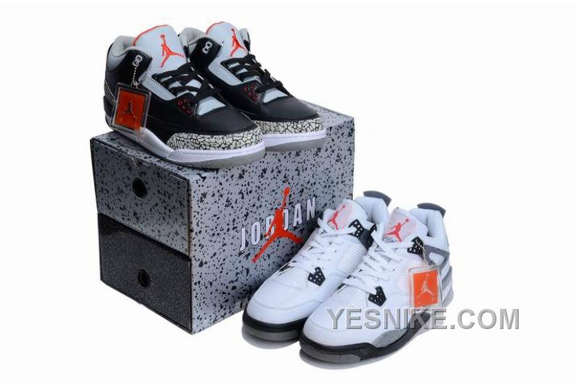 the best attitude 87f8c f565e Big Discount! 66% OFF! Jordan 3 - Jordan 4 Cements Pack Limited Editon For  Sale