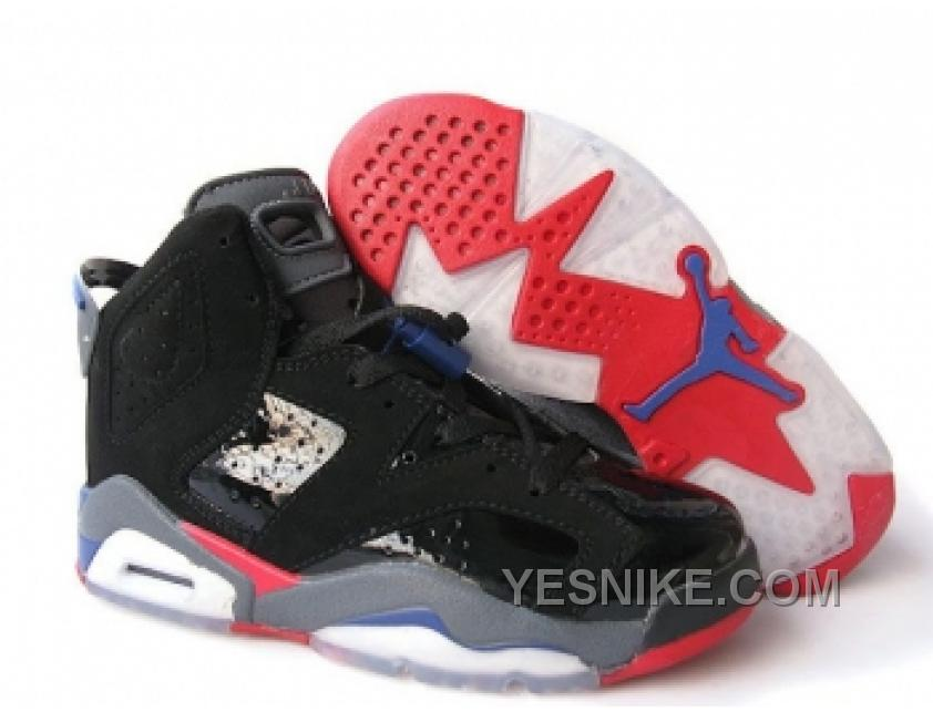 Conception innovante 61cec 8fc3f Big Discount! 66% OFF! Nike Air Jordan Retro 6 Pour Femme Noir/Rouge