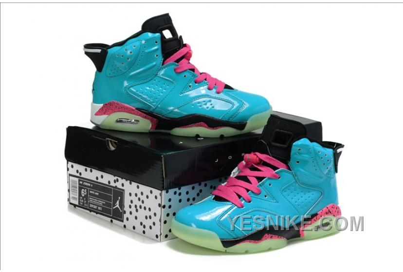 buy online b925c d2c7c Big Discount! 66% OFF! Air Jordan Femme-Jordan 6 Retro Bleu 3iDhF