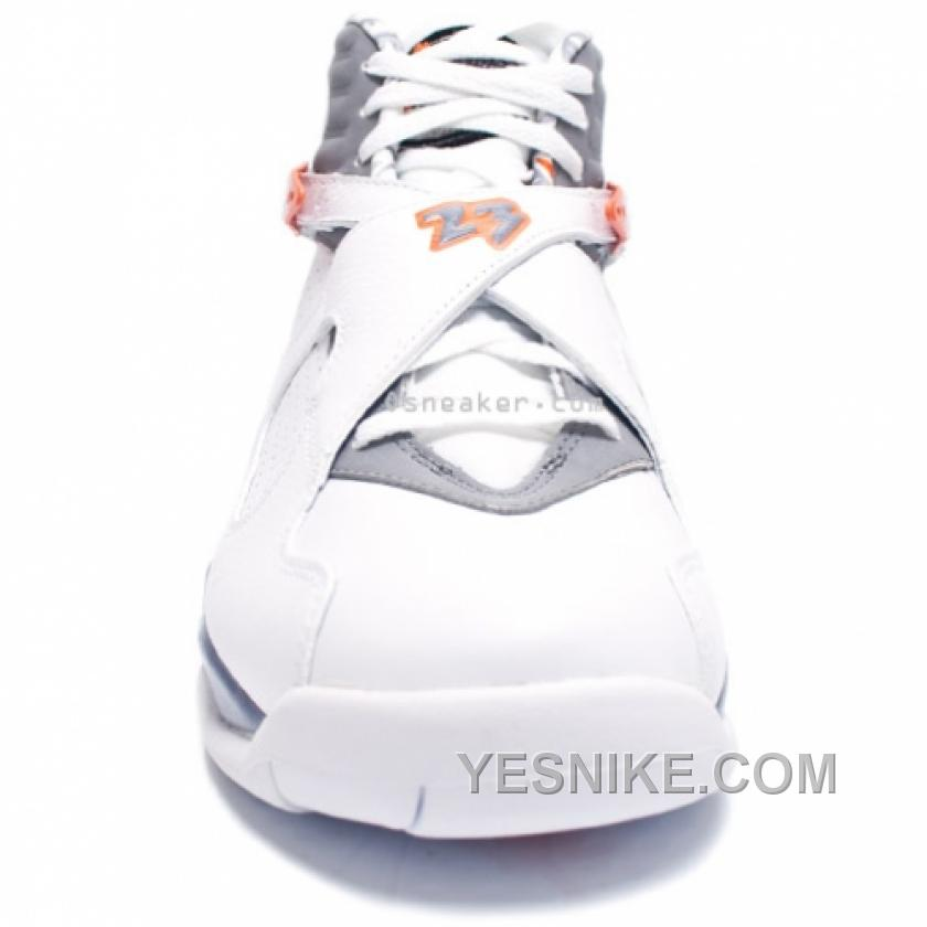 watch 7755e 9c25d Air Jordan 8 Retro White Orange Blaze Silver Stealth