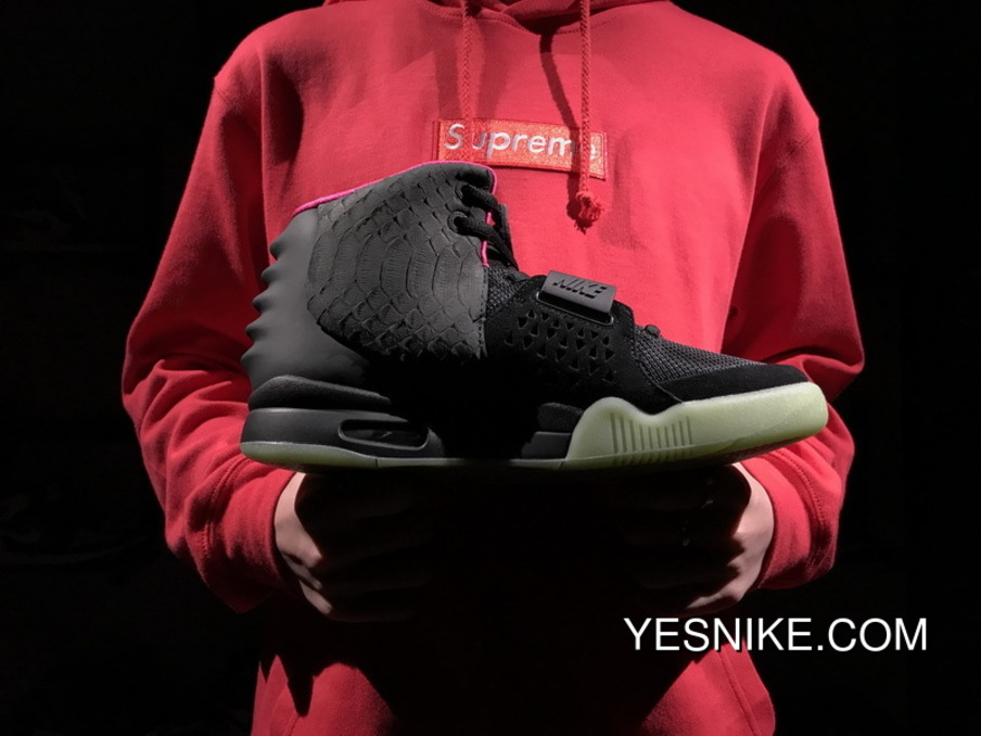 7b21fdb6c93 Black Pink Kanye West 2 Nike Air Yeezy II NRG Solar Red 508214-006 Outlet