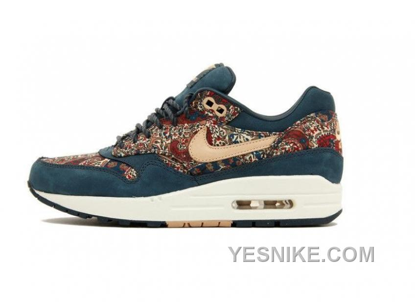 tout neuf 99351 b4fd4 Big Discount ! 66% OFF! Soldes Vue NIKE AIR MAX 1 Liberty Of London OG QS  Femme Marine/Bleu/Paisley Soldes