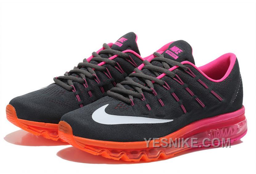 regard détaillé cc0ab db99e Big Discount ! 66% OFF! Soldes Le Style Unique De Femme Nike Air Max 2016  Baskets Noir/Rose/Orange Vente Privee