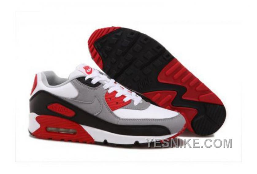 Big Discount! 66% OFF! Nike Air Max 90 CMFT PRM Tape Metallic Silver Black Red