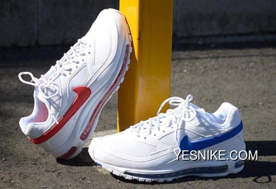 Skepta X Nike Air Max 97 BW AO2113 100 BLUE+ RED AIR SK Grime New Style