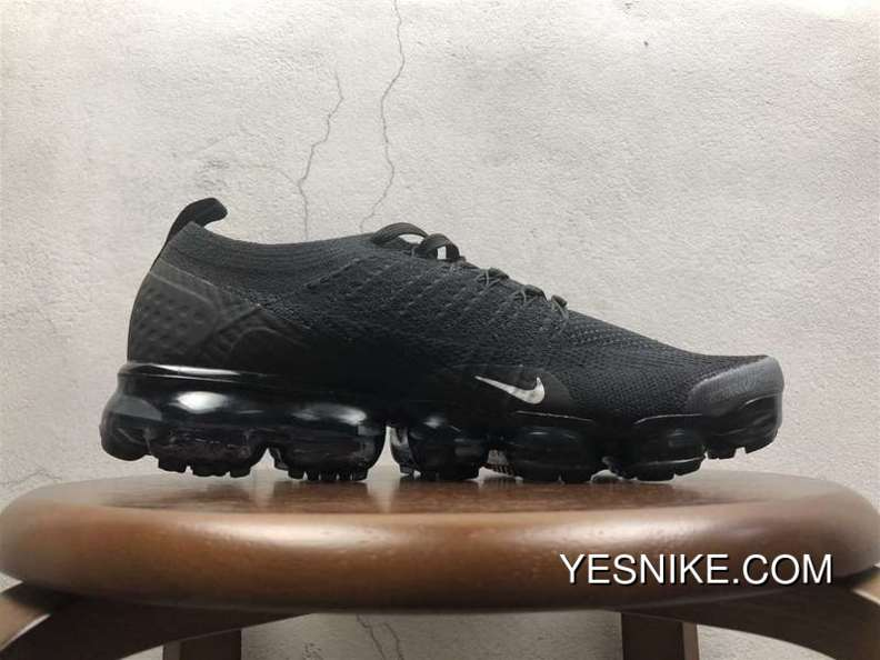 free shipping 478cf f1ee4 2.0 Zoom Air Nike Air Vapormax 2.0 Flyknit All Black 852-780004 New Year  Deals