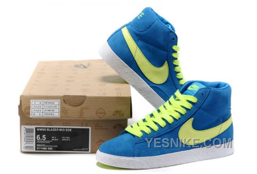 size 40 20d6c 92f09 Big Discount! 66% OFF! Nike Blazer High Suede Vintage Pack Mens Blue And  White