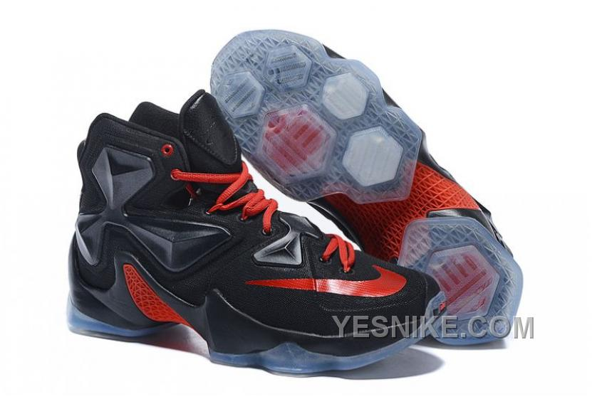 new style 3917e 1aeaf Big Discount ! 66% OFF ! Nike LeBron 13 Low Bred Black Red White Sneaker