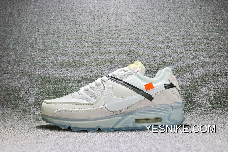 AA7293 100 OFF WHITE Nike Air Max 90 Ice X 10 X Max90 Be Publishing Zoom Jogging Shoes WHITE Grey Ice Blue Bottom Men Shoes Discount