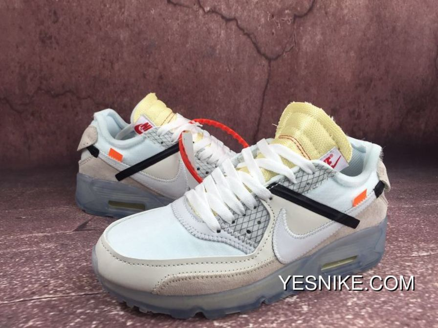 buy popular 1eb09 977cc NIKE X OFF-WHITE AIR MAX 90 OW Limited Joint Running Shoes AA7293 White  AA7293