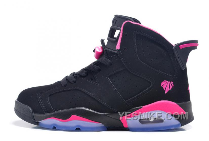 the latest c060f 75e0a Big Discount! 66% OFF! Air Jordan 6 Retro GS Black Pink For Sale In Women  Size