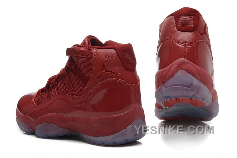 huge selection of 5166c 82cad Big Discount! 66% OFF! Girls Air Jordan 11 GS Burgundy Red Online For Sale