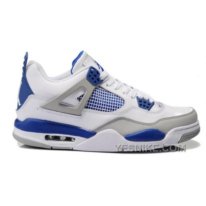 the best attitude 3de69 bf3fd Big Discount! 66% OFF! Air Jordan 4 (IV) Retro White/Military Blue-Neutral  Grey
