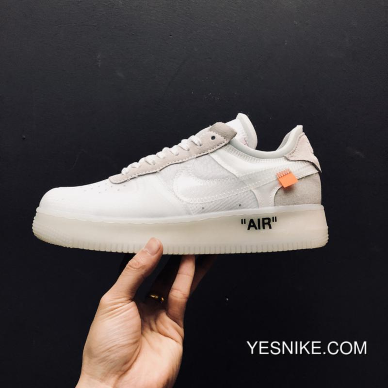 ef8881910496d Best Nike Air Force X OFF-WHITE Ow Joint The 10 1low AO4606 100 Air ...