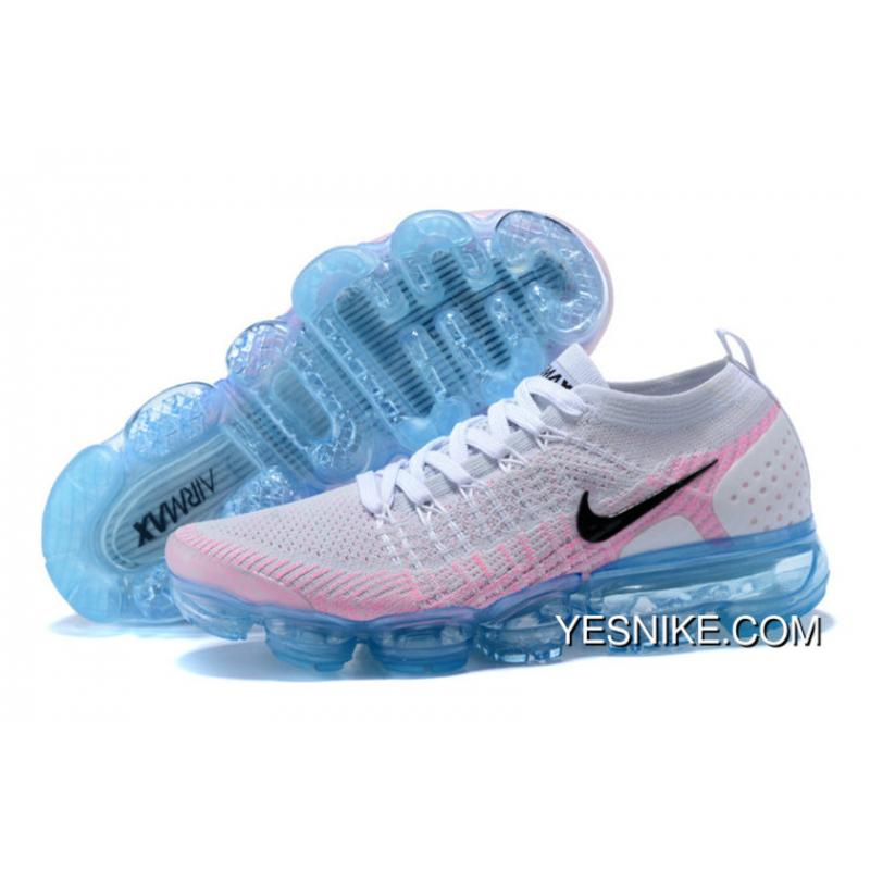 super popular b4f09 b6242 2018 Nike Lab Air Vapor Max X Womens Nike Vapormax Flyknit 2.0 White Black- Hydrogen ...