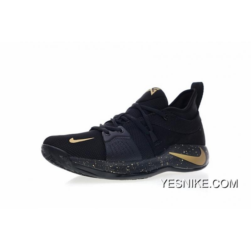 buy online 2eb1f 5e11e Nike PG2 Paul Put 2.0 Signature Blue Ball Shoes Series Black Gold Ink Spot  AJ2040-071 New Year Deals