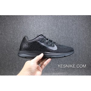 b8f64babcc53 ... Discount Nike ZOOM WINFLO 5 LUNAREPIC Mesh Breathable Running Shoes All  Black Women Shoes And Men ...