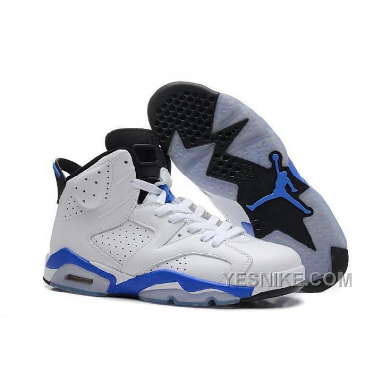 "9eb0873ca8e9 Big Discount! 66% OFF! Air Jordan 6 Retro ""Sport Blue"" GS Size White ..."