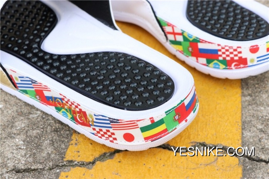 07ce79467558 2018 World Cup Jordan Slides TAB Air Retro Veidekke V AJ5 Shark Velcro  Trophy Collaboration 555501