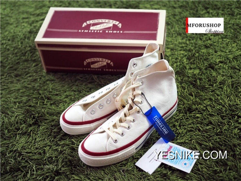 Converse All Star Low Top White Red Beige 100% Genuine Shoes