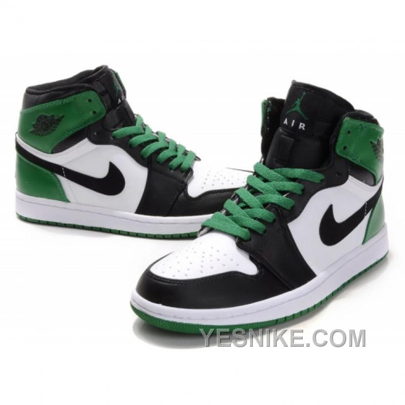 check out ff73c bba7e Air Jordan Retro 1 High Boston Celtics White Black