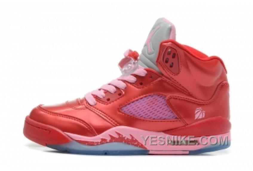 taille 40 79386 f79d7 Big Discount! 66% OFF! Air Jordan 5 Retro Femme Basket Rouge