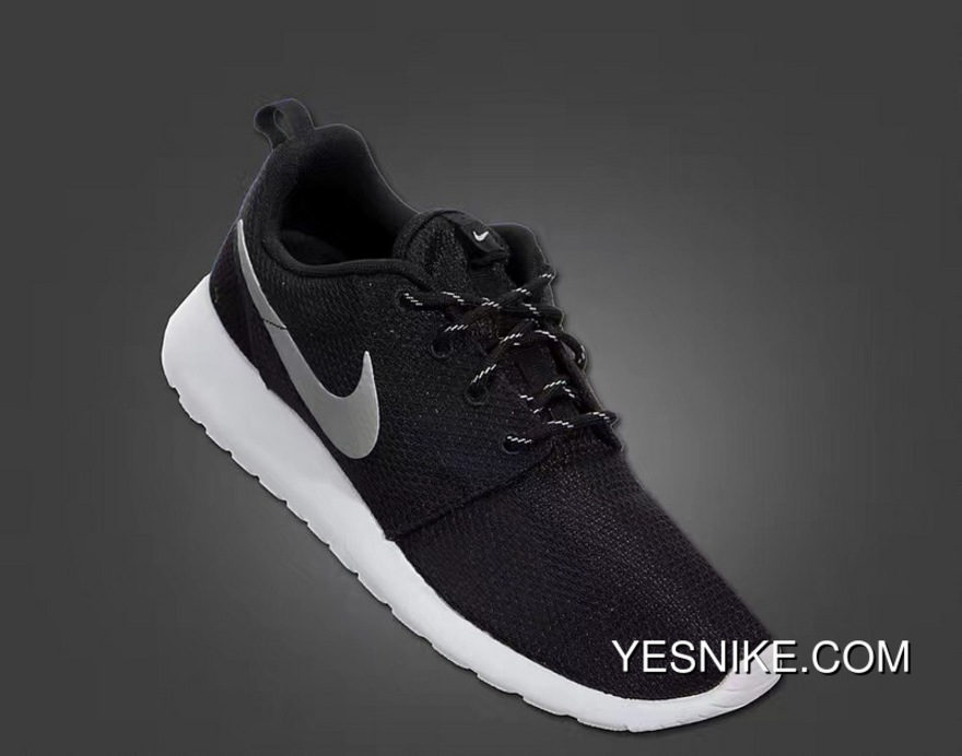 2476e371872a Copuon Nike Roshe Run One Black Siliver Colorways Mesh Running Shoes Women  Shoes And Men Shoes