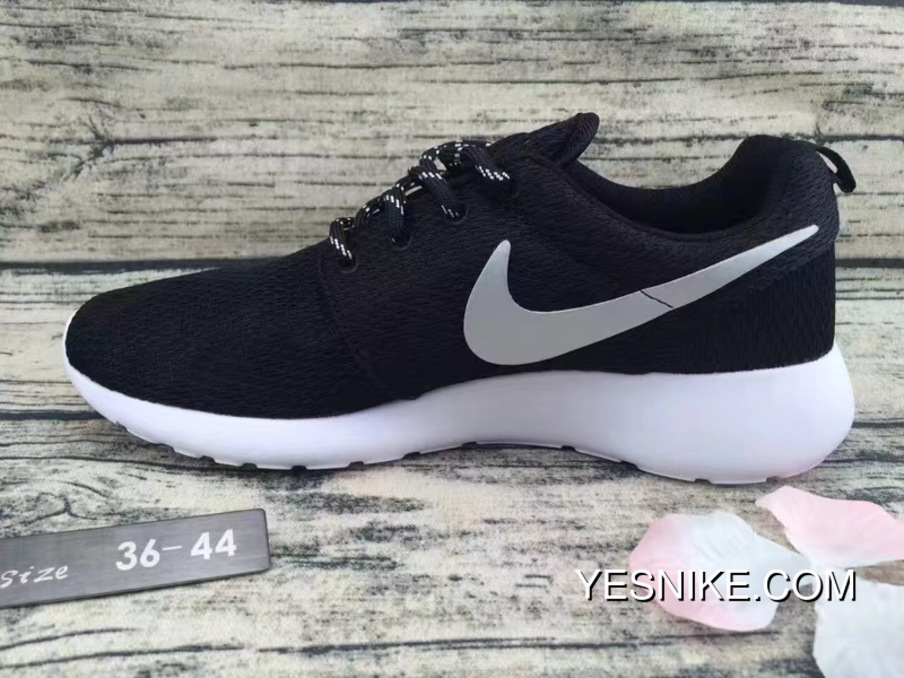 the latest 60f57 9e737 Copuon Nike Roshe Run One Black Siliver Colorways Mesh Running Shoes Women  Shoes And Men Shoes 511882-094