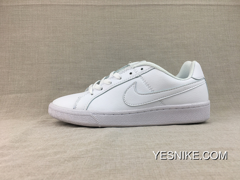 Outlet Nike COURT ROYALE GS Participants In Small White Sneakers Shoes  833535-102 c999fcb64